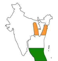 India hand signal vector
