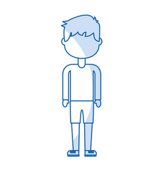 Isolated cute icon boy vector