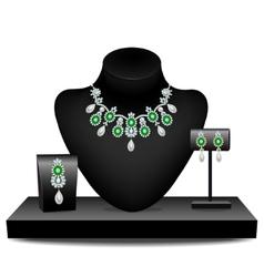Jewelery on dummies vector image vector image