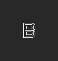 letter b logo medieval monogram initial for vector image