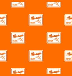 Miami beach pattern seamless vector