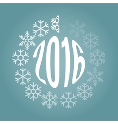 New Year loader from snowflakes vector image