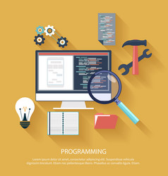 Programming concept vector image vector image