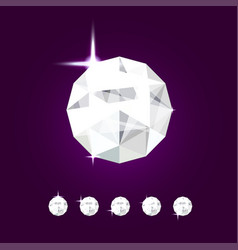 Realistic diamond jewel gem vector