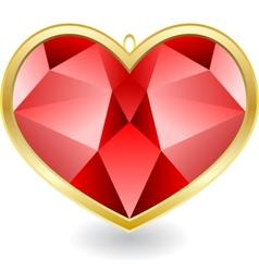 Red diamond vector image