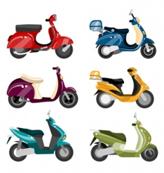 scooter set vector image vector image