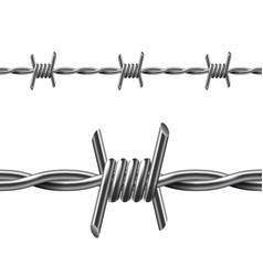 seamless barbed wire isolated on white vector image vector image