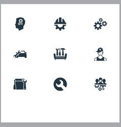 Set of simple help icons elements automobile salon vector