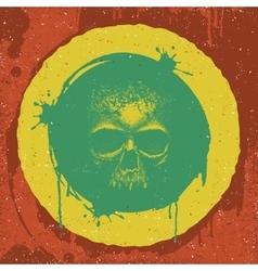 Skull reggae graphic design vector