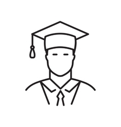 Student line icon vector image vector image