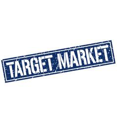 Target market square grunge stamp vector