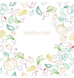 Text placeholder healthy vegetables background vector image vector image