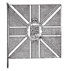The flag of the governor-general of the british vector