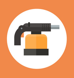 Torch icon working hand tool equipment concept vector