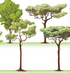 Trees Set vector image vector image
