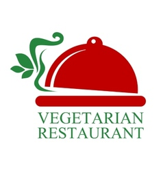 Vegetarian Restaurant sign vector image vector image