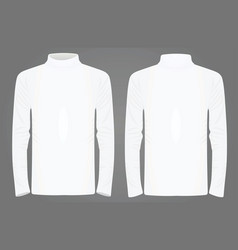 White high neck long sleeve t shirt vector