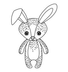 rabbit cute wildlife icon vector image