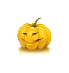 Laughing pumpkin vector image