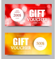 Gift company voucher template vector