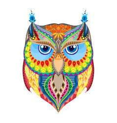 Colorful owl silhouette vector