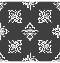 Grey seamless pattern background vector image