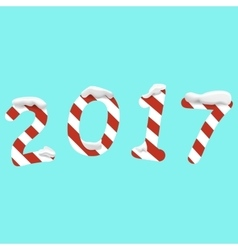 2017 Happy New Year background with numbers vector image vector image