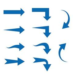 Set of Ten different Arrows vector image