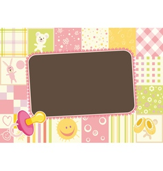 childrens border of the patterns vector image