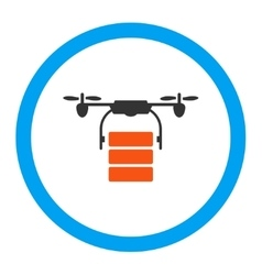 Cargo drone rounded icon vector