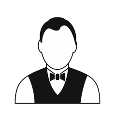 Croupier black simple icon vector