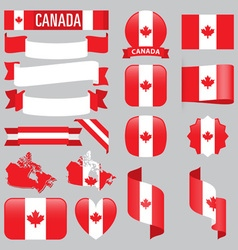 Canada flags vector