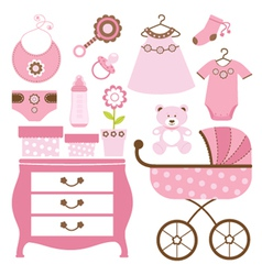 Baby shower pink vector