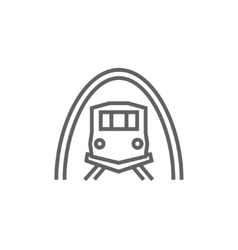Railway tunnel line icon vector