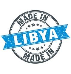 Made in libya blue round vintage stamp vector