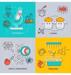 Biotechnology icon set vector