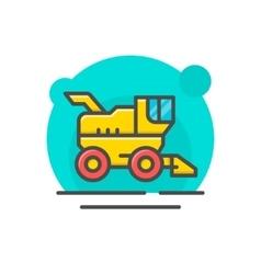 Combine harvester concept vector