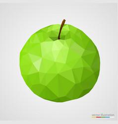 Abstract green apple vector