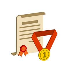 Awards symbol flat isometric icon or logo 3d vector