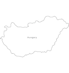 Hungary Black White Map Royalty Free Vector Image - Hungary blank map