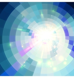Blue abstract circle tiled background vector image vector image