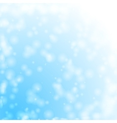 Bokeh snowing vector image vector image