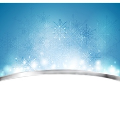 Christmas blue background with metal stripe vector image vector image