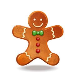 Christmas gngerbread man vector