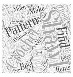 Crochet shawls word cloud concept vector