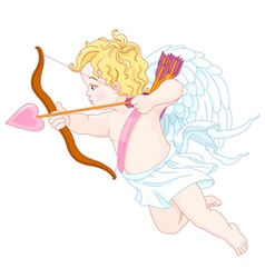 Cupid Shooting vector image vector image