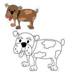Dog bulldog coloring vector