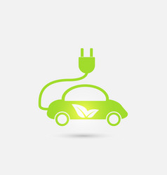 electric car in refill icon eco vector image vector image