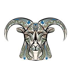 ethnic sheep vector image vector image