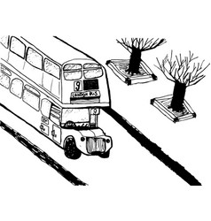 european capital sketch london modernist style vector image vector image